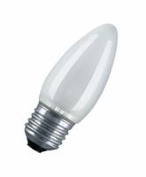 Osram лампа накаливания Е27 40W свеча матовая