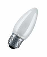 Osram лампа накаливания Е27 60W свеча матовая