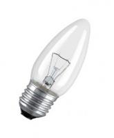 Osram лампа накаливания Е27 60W свеча прозрачная