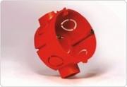 Промрукав подрозетник по бетон красный с ушами 64х40 80-0500 С