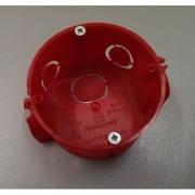 Промрукав подрозетник по бетон красный с ушами глубокий 64х60 80-0510С