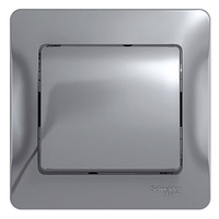 Schneider electric GLOSSA 1-клавишный ВЫКЛЮЧАТЕЛЬ, сх.1, АЛЮМИНИЙ GSL000312