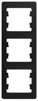 Schneider electric GLOSSA 3-постовая РАМКА, вертикальная, АНТРАЦИТ GSL000707