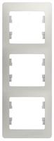 Schneider electric GLOSSA 3-постовая РАМКА, вертикальная, ПЕРЛАМУТРОВЫЙ GSL000607