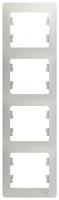 Schneider electric GLOSSA 4-постовая РАМКА, вертикальная, ПЕРЛАМУТРОВЫЙ GSL000608