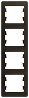 Schneider electric GLOSSA 4-постовая РАМКА, вертикальная, ШОКОЛАД GSL000808