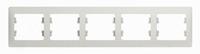 Schneider electric GLOSSA 5-постовая РАМКА, горизонтальная, ПЕРЛАМУТРОВЫЙ GSL000605