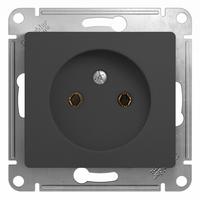 Schneider electric GLOSSA РОЗЕТКА без заземления, 16А, механизм, АНТРАЦИТ GSL000741