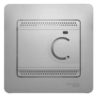 Schneider electric GLOSSA ТЕРМОСТАТ электронный теплого пола с датчиком, 10A, АЛЮМИНИЙ GSL000338