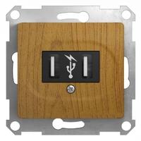 Schneider electric GLOSSA USB РОЗЕТКА, ДЕРЕВО ДУБ GSL000532