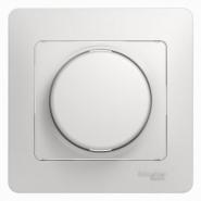Schneider GLOSSA диммер регулятор света 300Вт поворотный белый в сборе GSL000134