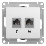 Schneider GLOSSA розетка Компьютер CAT5 + TF белая механизм GSL000185