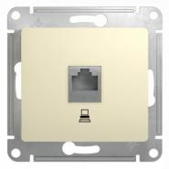 Schneider GLOSSA розетка Компьютер CAT5 крем механизм GSL000281K