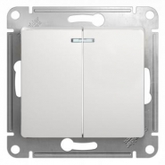 Schneider GLOSSA выключатель 2кл. с подсв. белый механизм GSL000153