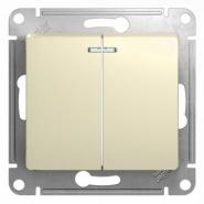 Schneider GLOSSA выключатель 2кл. с подсв. крем механизм GSL000253