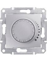 Schneider SEDNA диммер регулятор света 500Вт поворотно - нажимной алюминий SDN2200560
