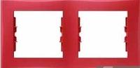 Schneider SEDNA рамка 2-я горизонт красная SDN5800341