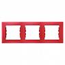 Schneider SEDNA рамка 3-я горизонт красная SDN5800541
