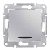 Schneider SEDNA выключатель 1кл. проходной с подсв. алюминий SDN1500160