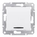 Schneider SEDNA выключатель 1кл. проходной с подсв. белый SDN1500121