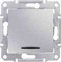 Schneider SEDNA выключатель 1кл. с подсв. алюминий SDN1400160