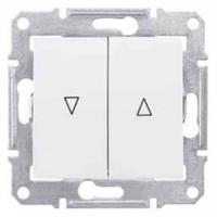 Schneider SEDNA выключатель для жалюзи мех.блок белый SDN1300321
