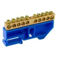 """TDM Шина """"N"""" нулевая с изолятором на DIN-рейку 6х9мм стойка бол. 10 групп SQ0801-0028"""