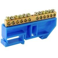 """TDM Шина """"N"""" нулевая с изолятором на DIN-рейку 6x9мм стойка бол. 12 групп SQ0801-0029"""