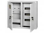 Щит металлический ЩРУ 3Н36 500х500х155 2-х дверный с окном под 3ф счетчик IP31