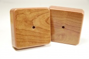 Коробки распаячные CВ-профиль 75х75х23 ольха с текстурой