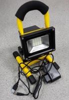 Светодиодный прожектор на подставке аккумуляторный (4 часа) COB 10W