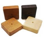 T-Plast Коробка распаячная 80х80х20 орех светлый 3Д 50.12.001.0004