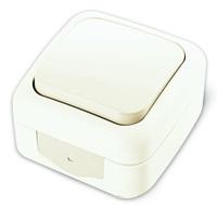 Vi-ko Palmiye выключатель 1 кл. проходной IP54 открытая установка белый 90555404