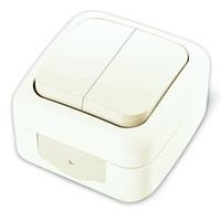 Vi-ko Palmiye выключатель 2 кл. IP54 открытая установка белый 90555402