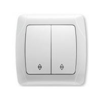 Viko Carmen выключатель 2 кл. проходной белый 90561017