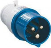 TDM Вилка силовая 3 контакта 16А 220В IP44 SQ0601-0001 (013)