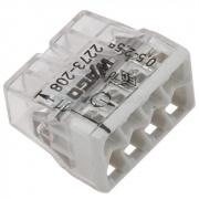 WAGO клемма без пасты на 8 проводов плоская 2273-208